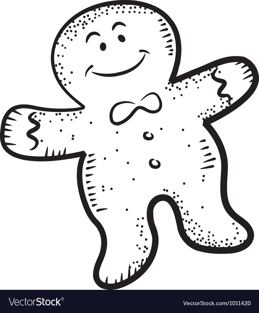 Ginger bread doodle vector | Price: 1 Credit (USD $1)