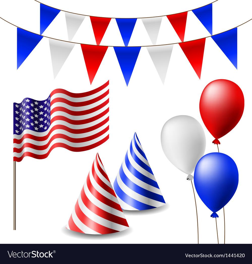 July 4 celebrating item set vector | Price: 1 Credit (USD $1)