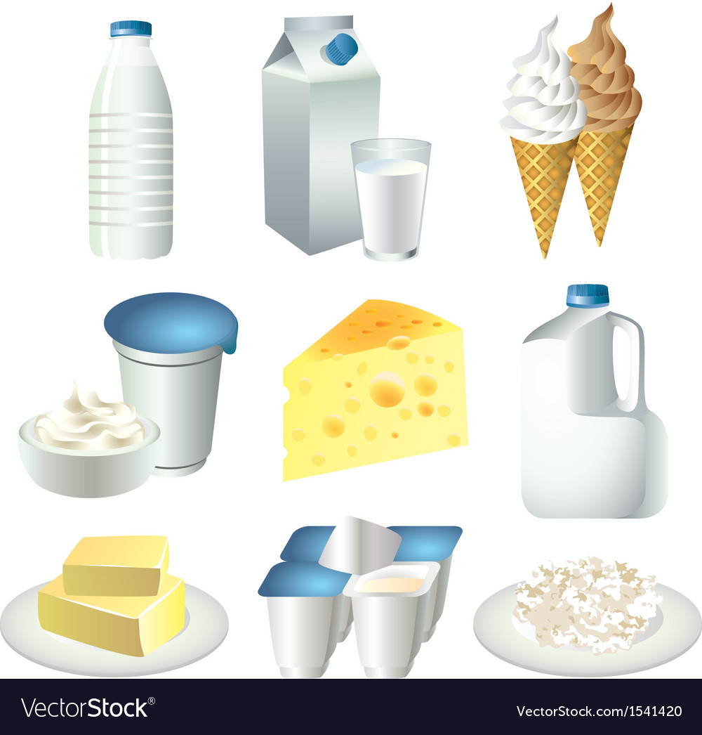 Milky set vector | Price: 3 Credit (USD $3)