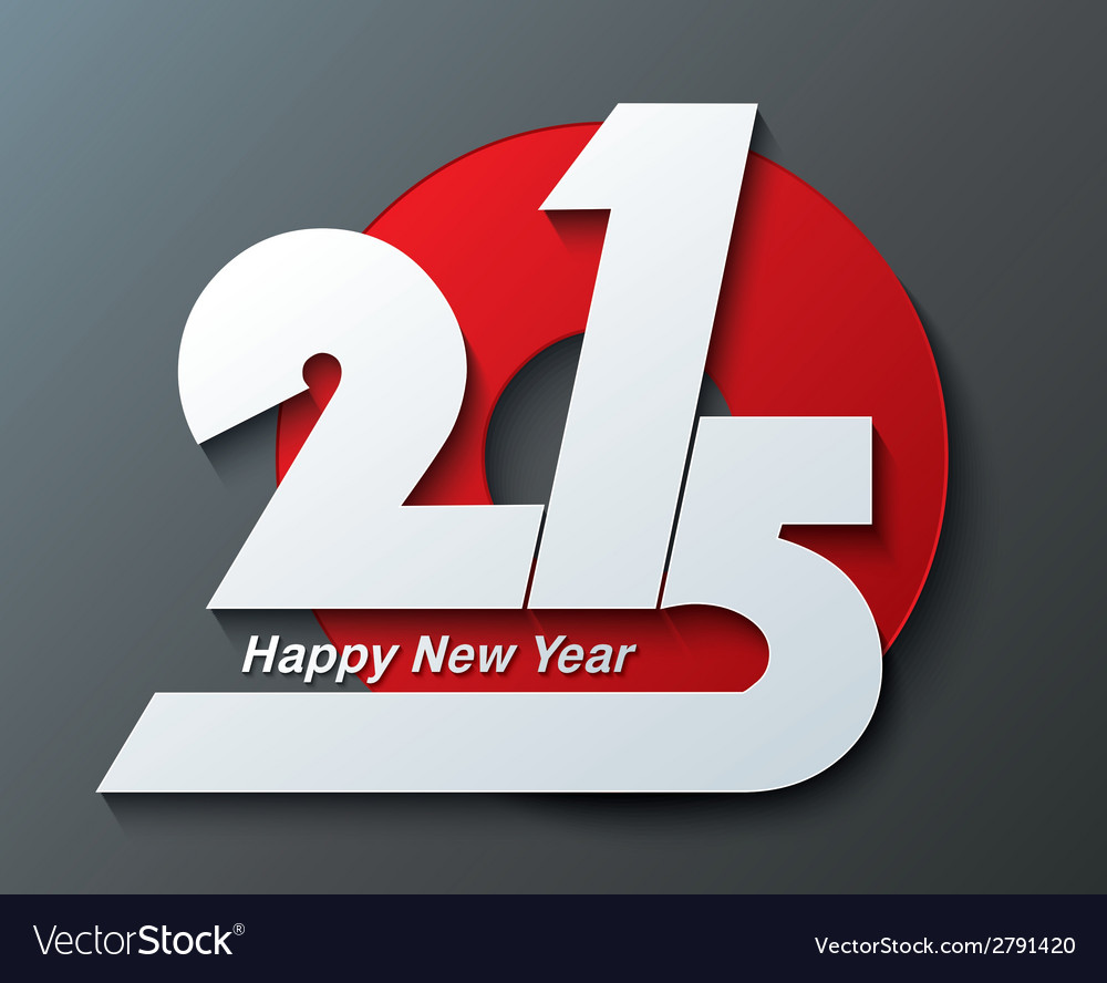Modern creative greeting card design new year 2015 vector | Price: 1 Credit (USD $1)