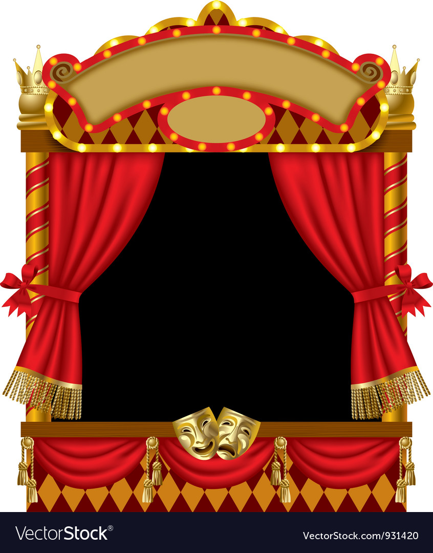 Puppet show booth vector | Price: 3 Credit (USD $3)