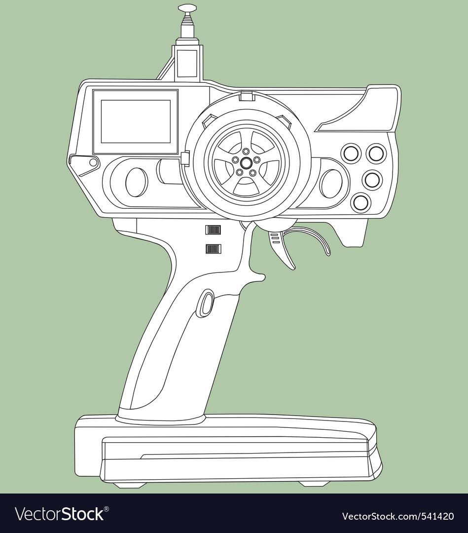 Radio remote control unit vector   Price: 1 Credit (USD $1)