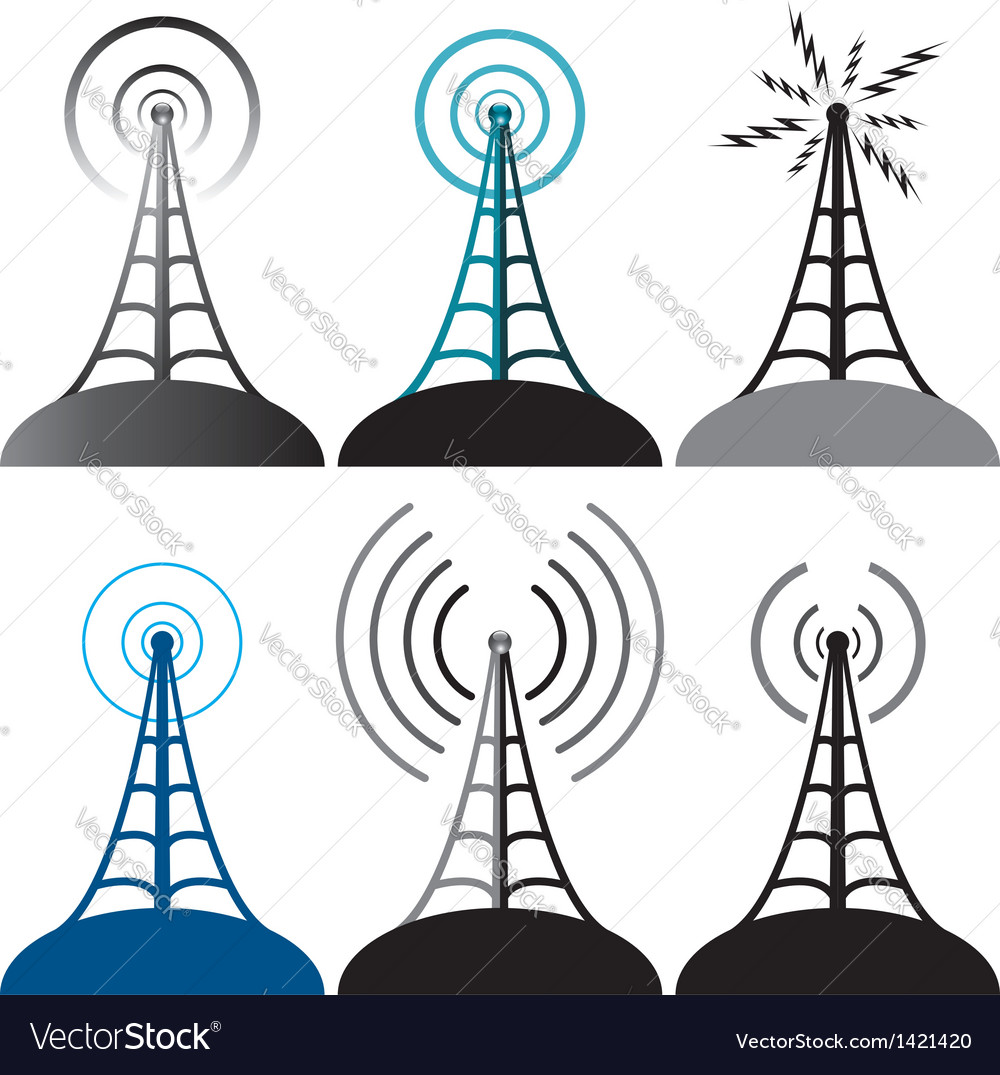 Radio tower vector | Price: 1 Credit (USD $1)