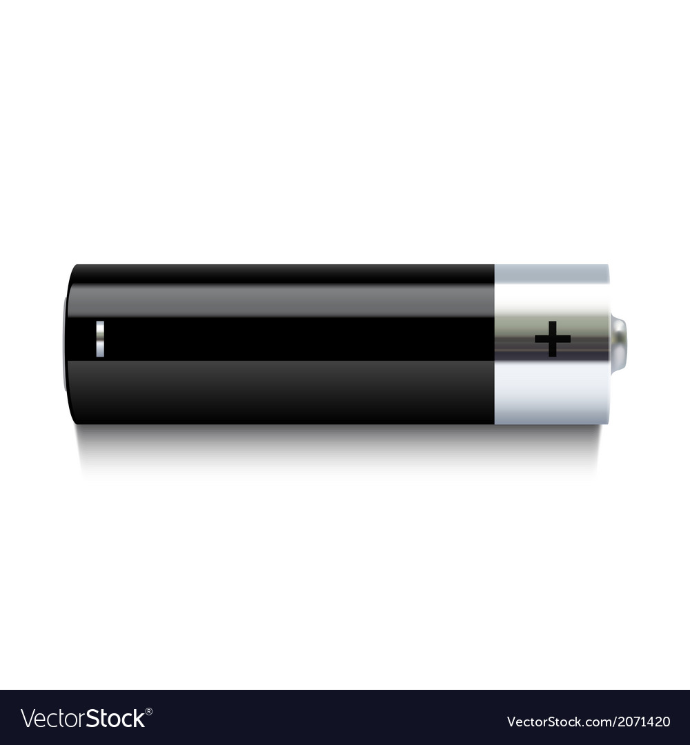 Realistic battery icon vector | Price: 1 Credit (USD $1)