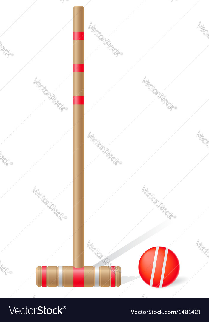Croquet mallet and ball vector | Price: 1 Credit (USD $1)