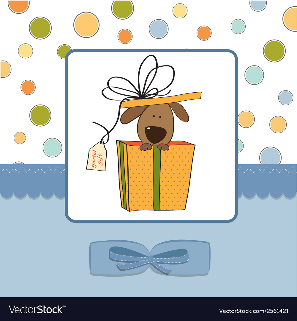 Funny birthday card with dog vector | Price: 1 Credit (USD $1)