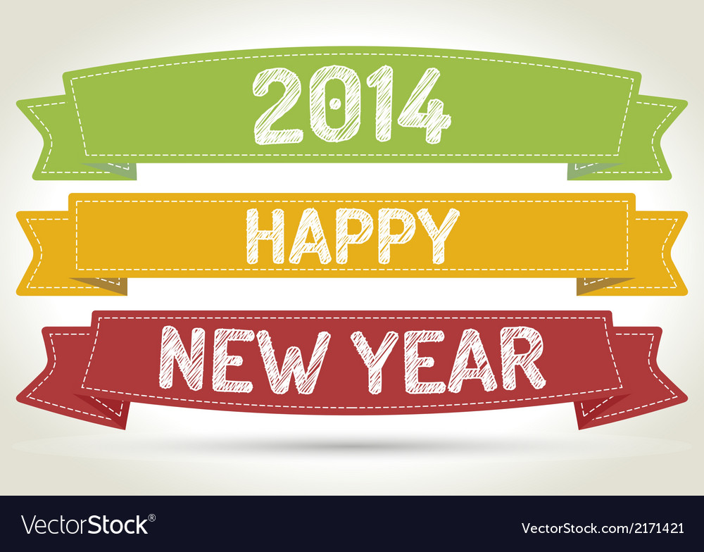 Happy new year 2014 vector | Price: 1 Credit (USD $1)