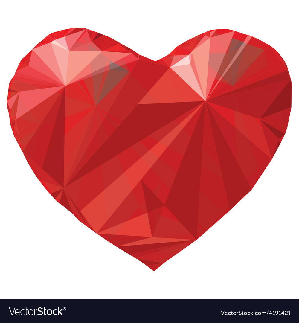 Heart origami low-poly vector | Price: 1 Credit (USD $1)