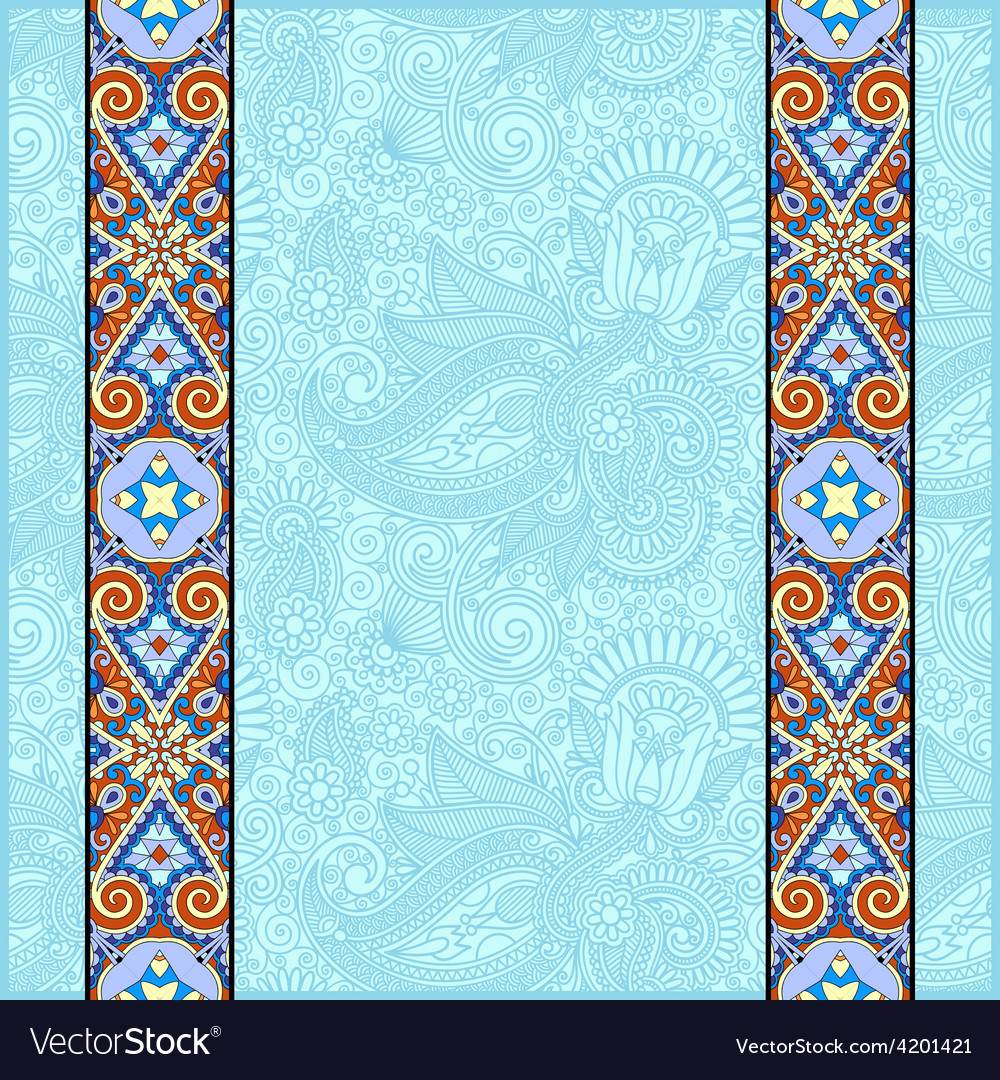 Lace border stripe in ornate floral background vector | Price: 1 Credit (USD $1)