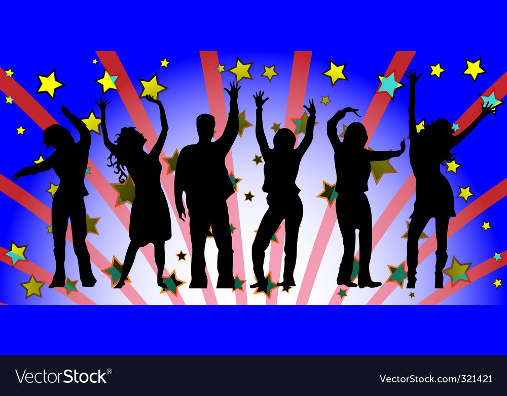 Party people silhouettes vector | Price: 1 Credit (USD $1)