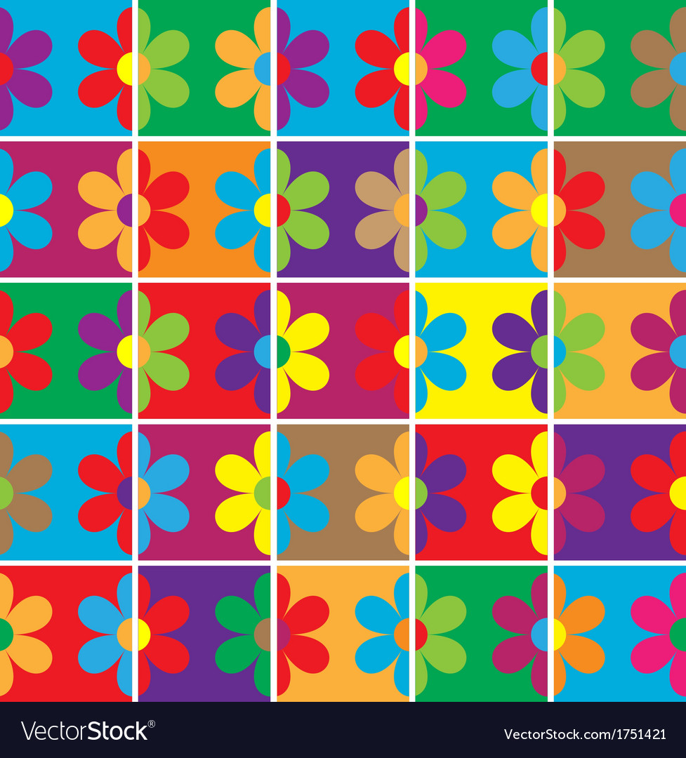 Seamless flowers background vector | Price: 1 Credit (USD $1)