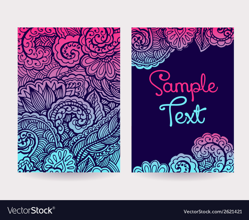 Set of decorative cards vector | Price: 1 Credit (USD $1)