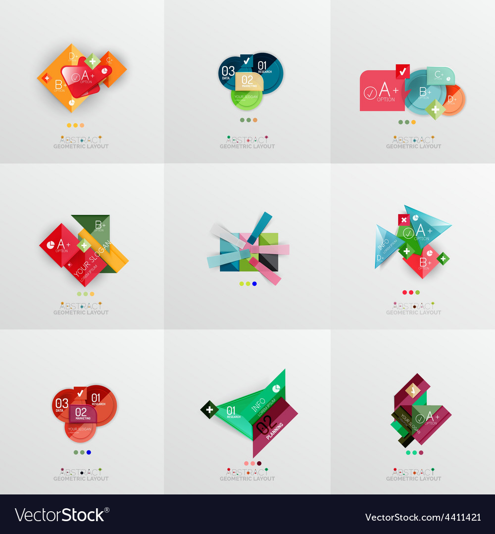 Set of paper graphic layouts vector | Price: 1 Credit (USD $1)
