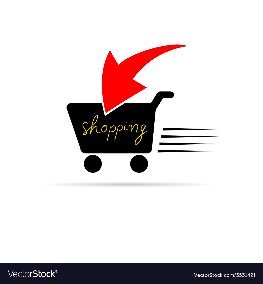 Shopping icon color vector | Price: 1 Credit (USD $1)