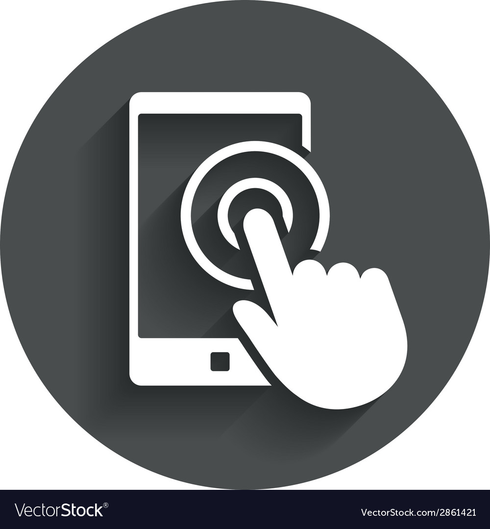 Touch screen smartphone sign icon hand pointer vector | Price: 1 Credit (USD $1)