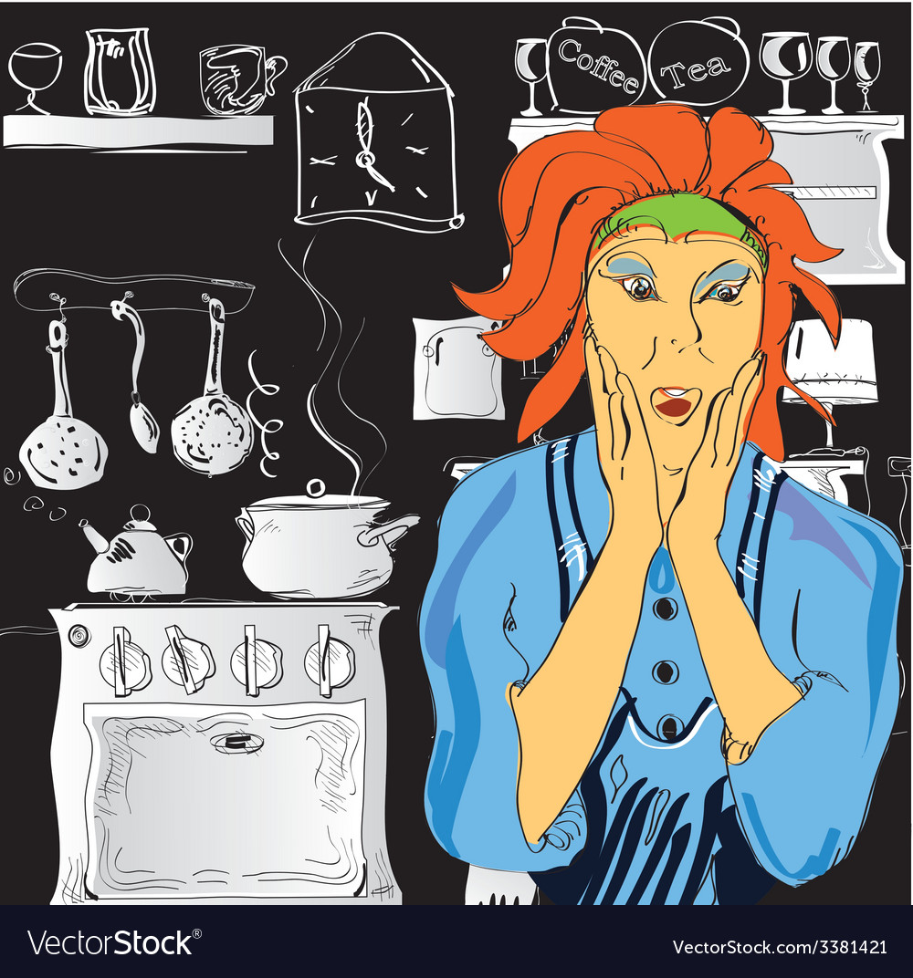 Woman cooking vector | Price: 1 Credit (USD $1)