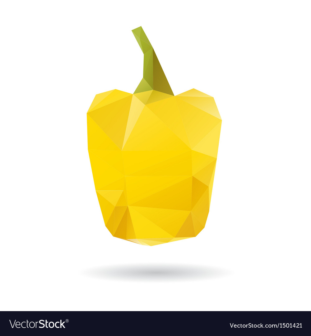 Yellow pepper abstract isolated on a white vector | Price: 1 Credit (USD $1)