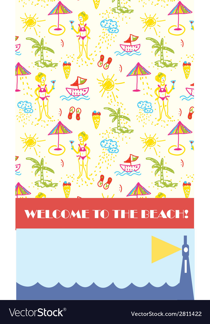 Beach party background for banner or flyer vector | Price: 1 Credit (USD $1)