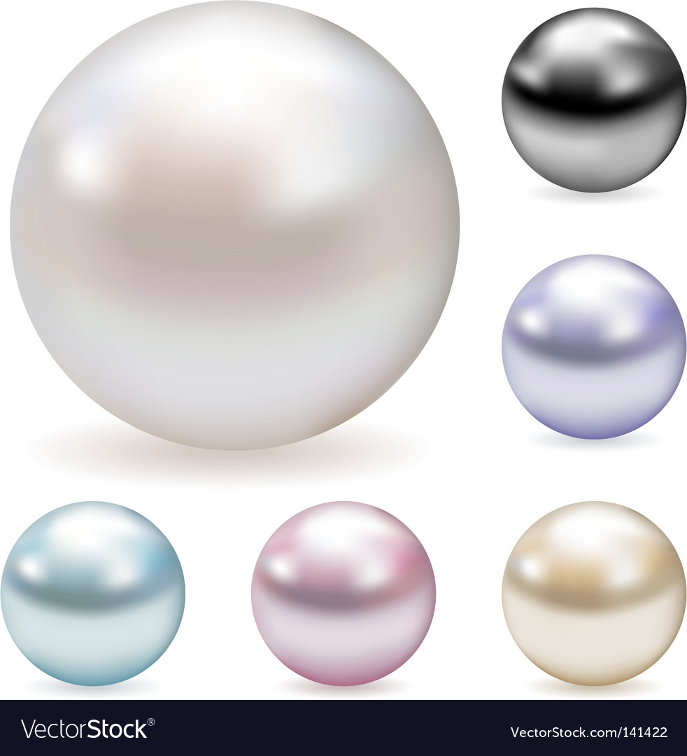 Color pearls vector | Price: 1 Credit (USD $1)