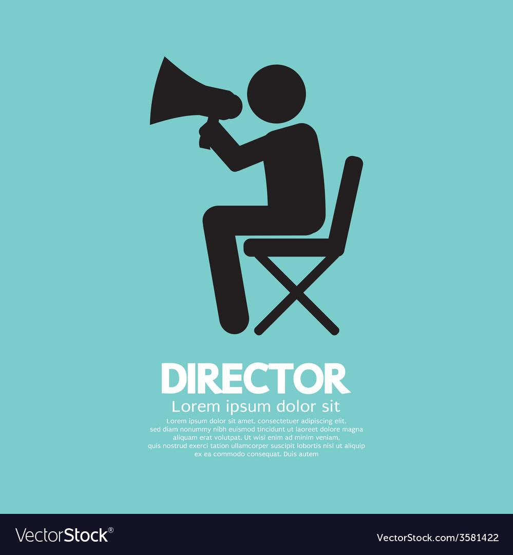 Film director symbol graphic vector | Price: 1 Credit (USD $1)