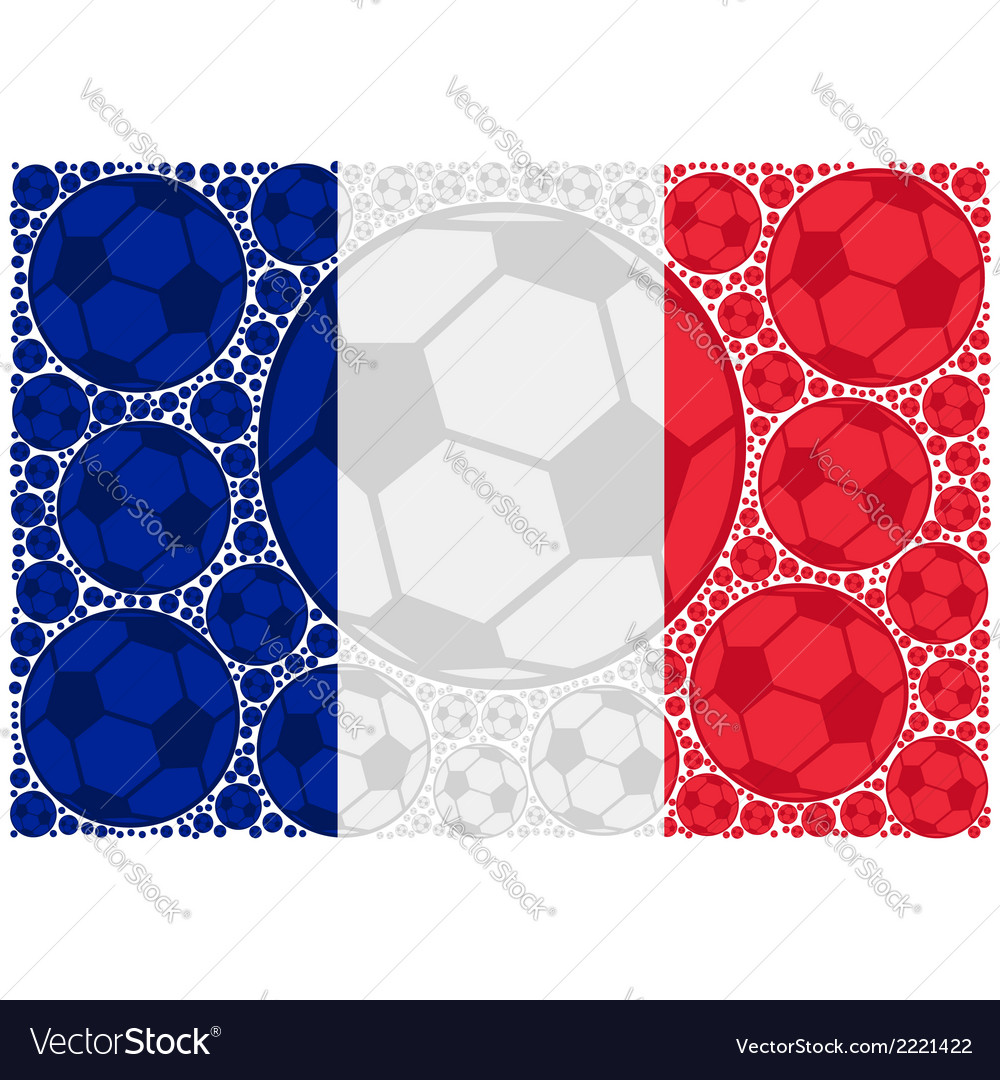 France soccer balls vector | Price: 1 Credit (USD $1)