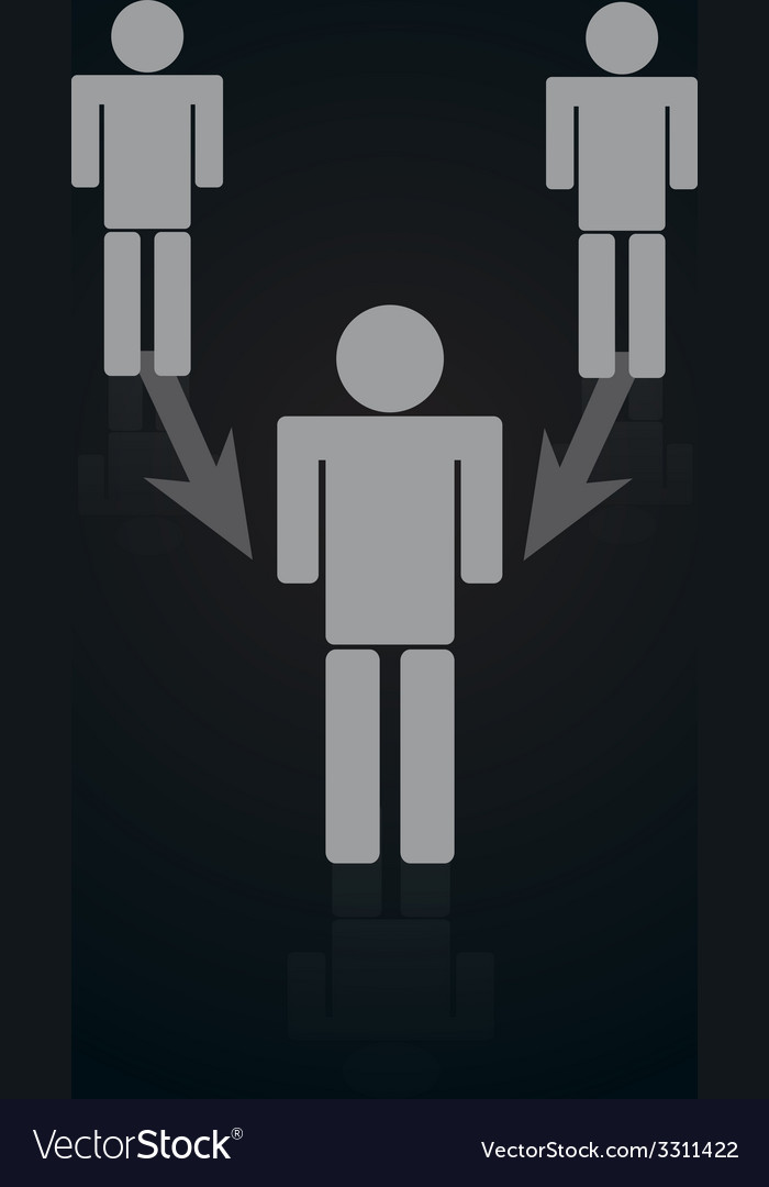 Icon of connected person with arrows with black vector | Price: 1 Credit (USD $1)