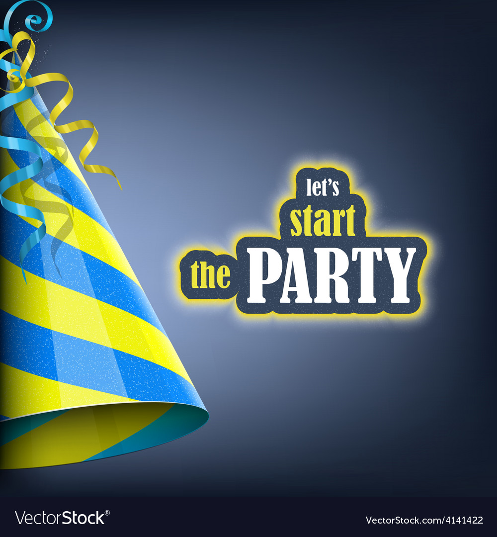 Lets start the party holiday banner vector | Price: 3 Credit (USD $3)