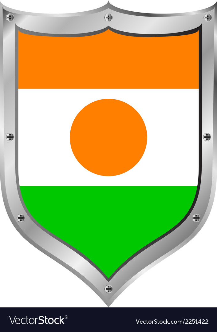 Niger flag button vector | Price: 1 Credit (USD $1)