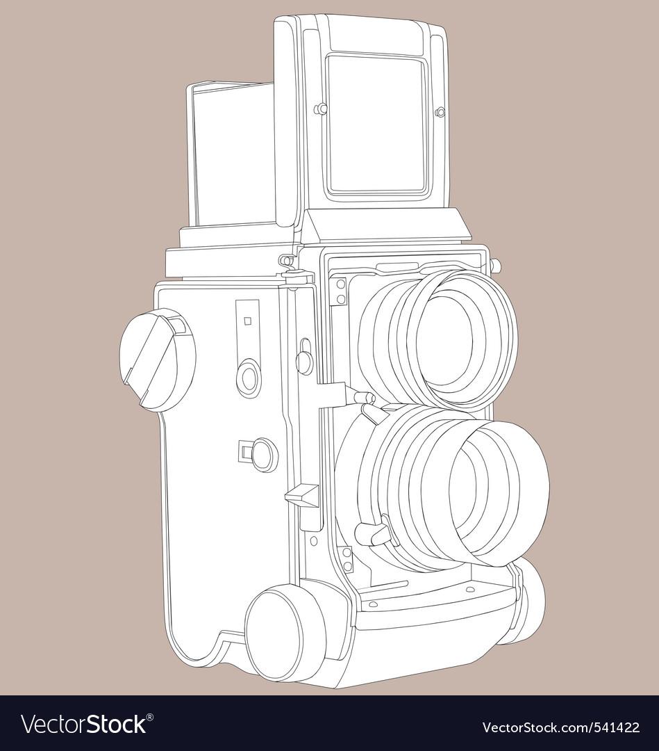 Reflex film camera vector | Price: 1 Credit (USD $1)