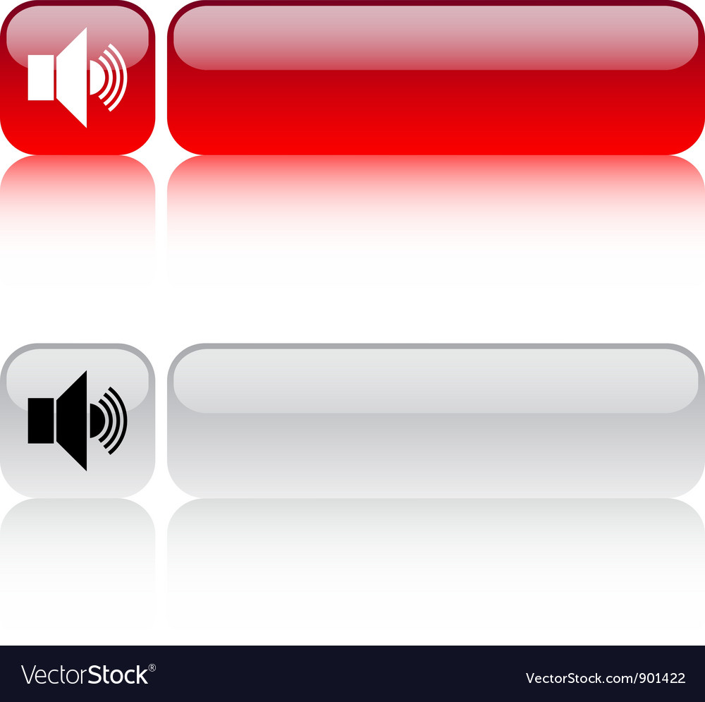 Sound volume square button vector | Price: 1 Credit (USD $1)