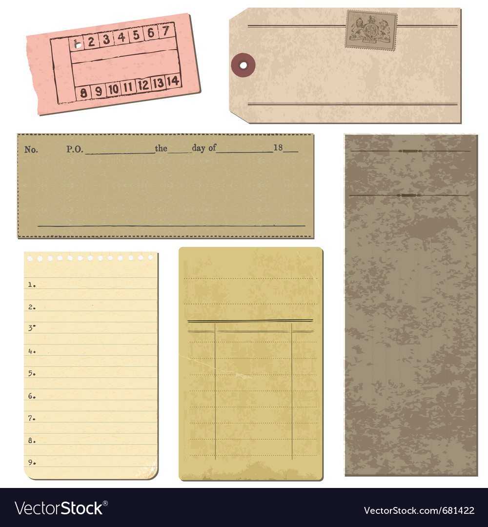 Vintage paper elements vector | Price: 1 Credit (USD $1)