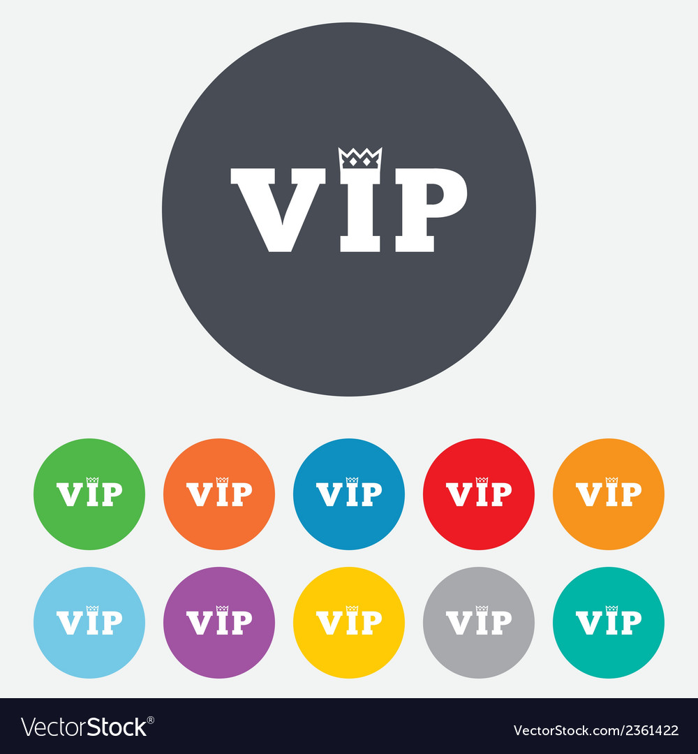 Vip sign icon membership symbol vector | Price: 1 Credit (USD $1)