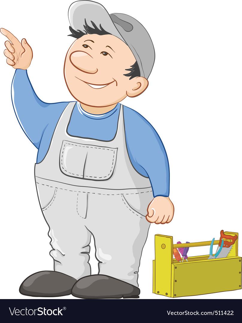 Worker cartoon vector | Price: 3 Credit (USD $3)