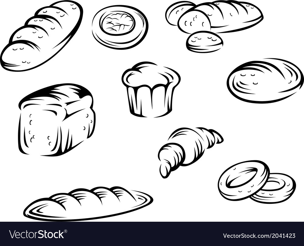 Bakery elements vector | Price: 1 Credit (USD $1)