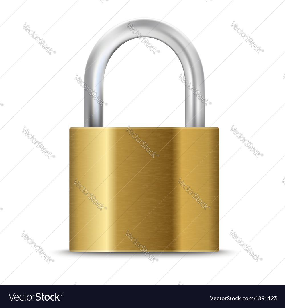 Closed padlock vector | Price: 1 Credit (USD $1)
