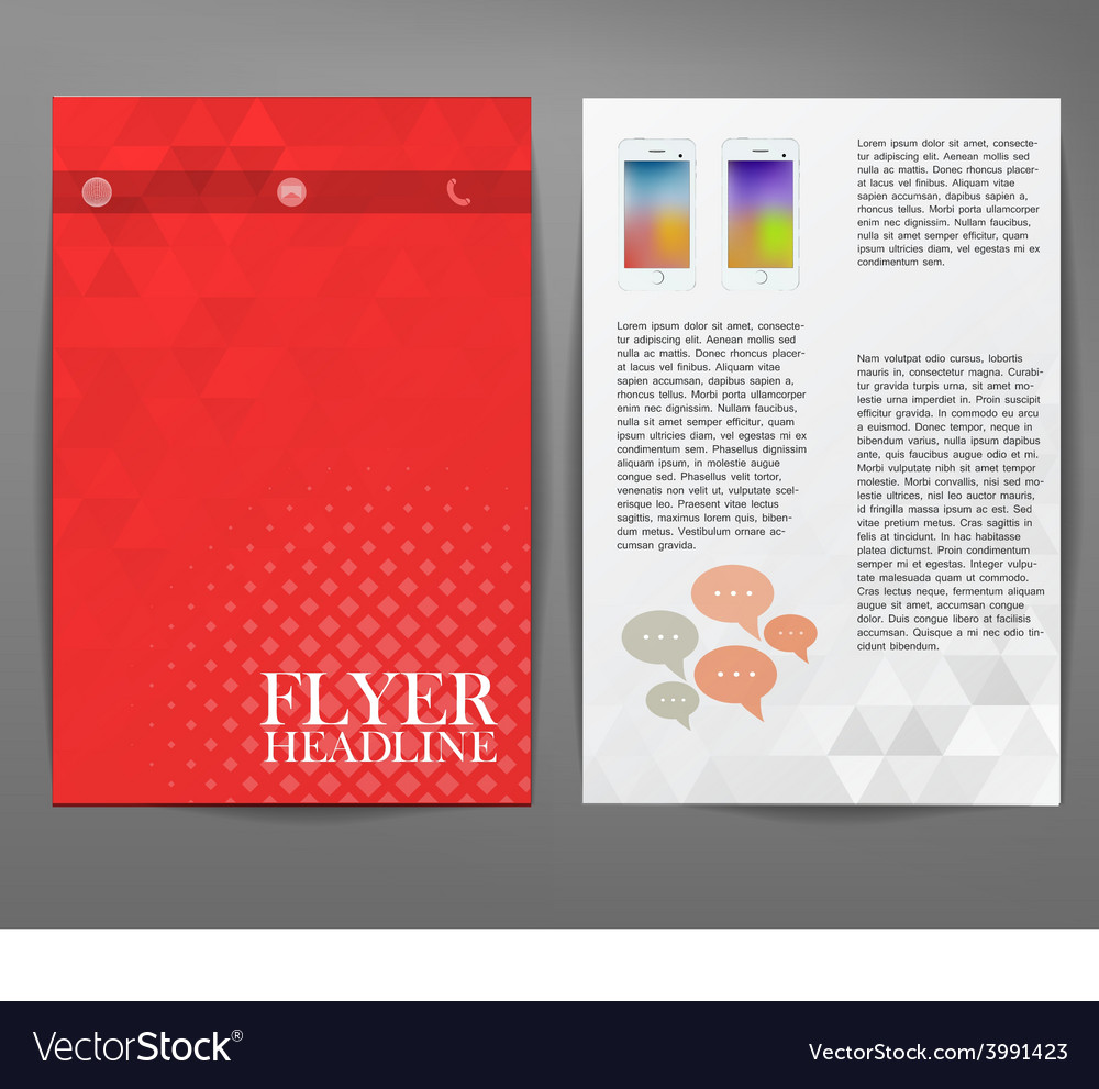Cover report triangle geometry abstract red vector | Price: 1 Credit (USD $1)