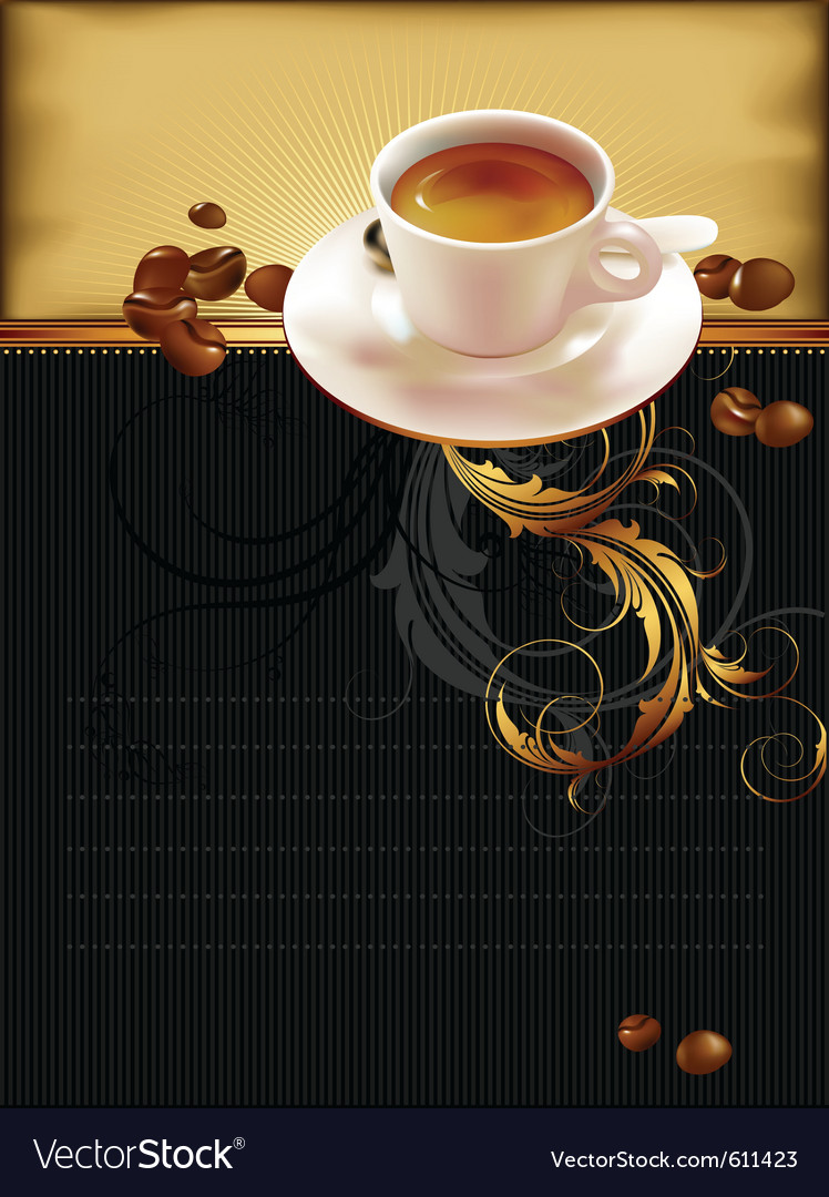 Cup of coffee with ornate elements vector | Price: 3 Credit (USD $3)