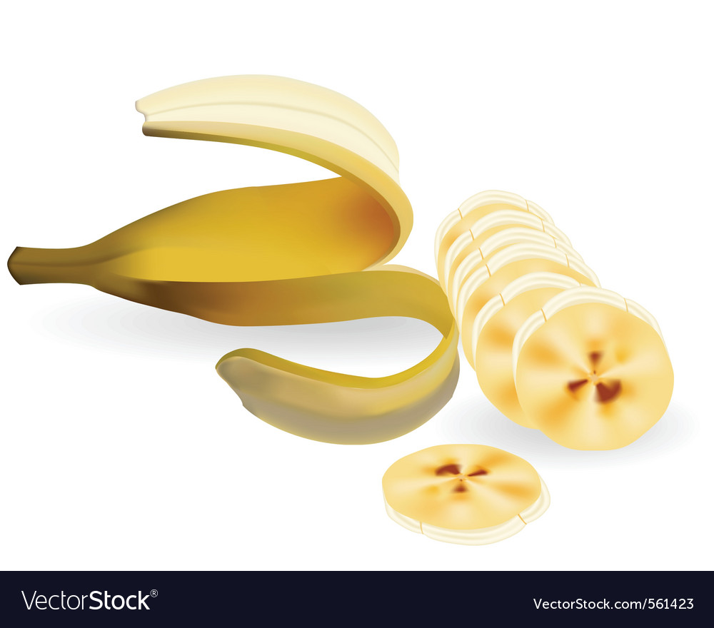 Cut banana vector | Price: 1 Credit (USD $1)