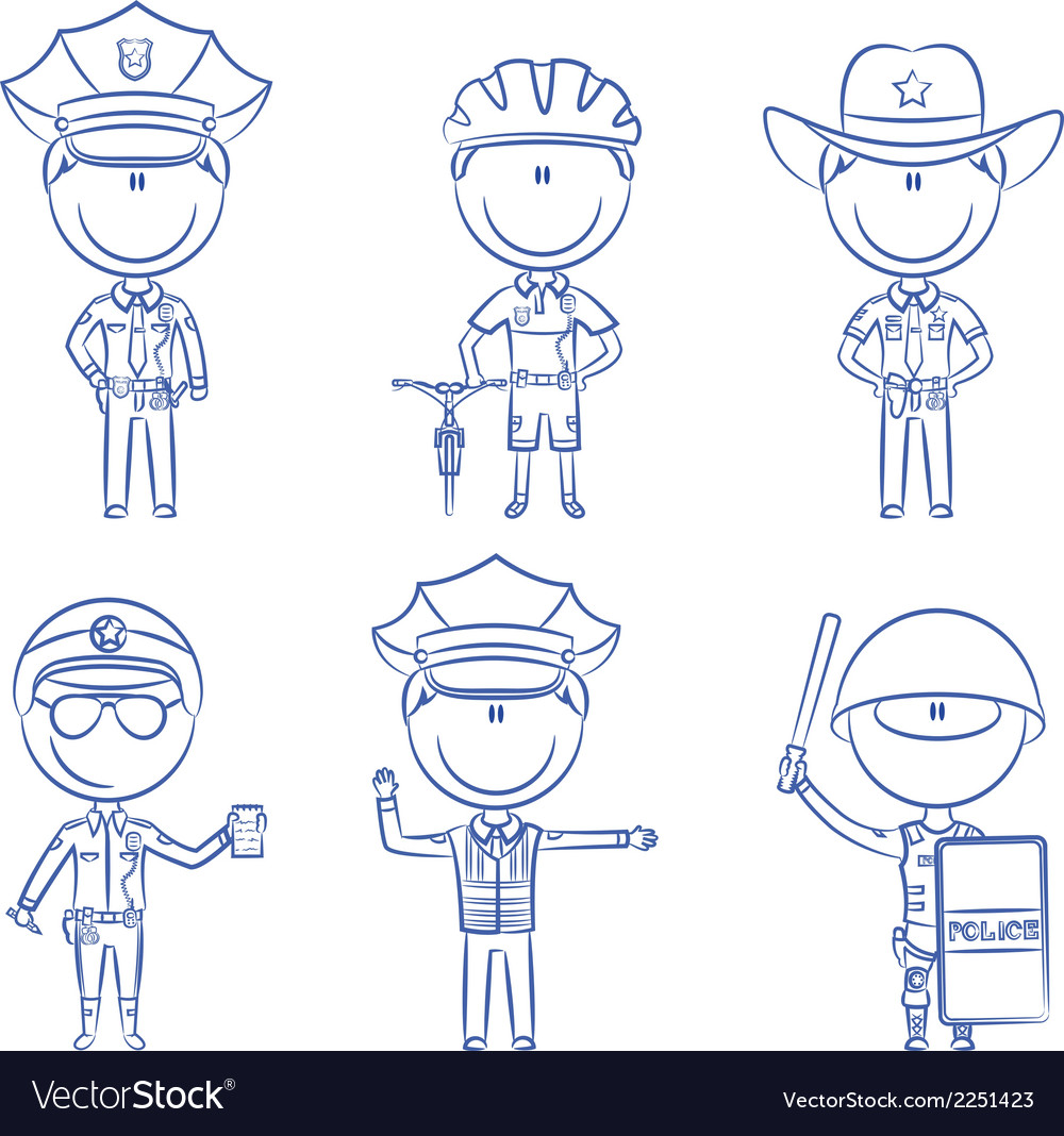 Police men vector | Price: 1 Credit (USD $1)