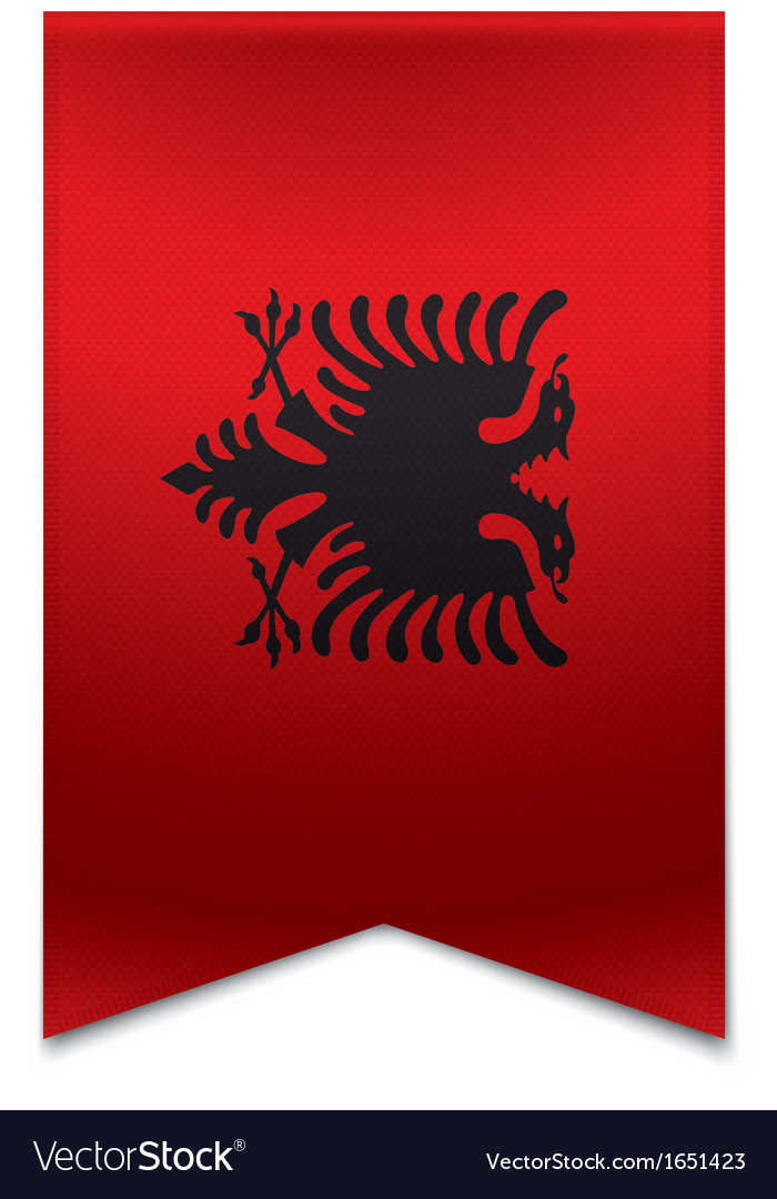 Ribbon banner - albanian flag vector | Price: 1 Credit (USD $1)