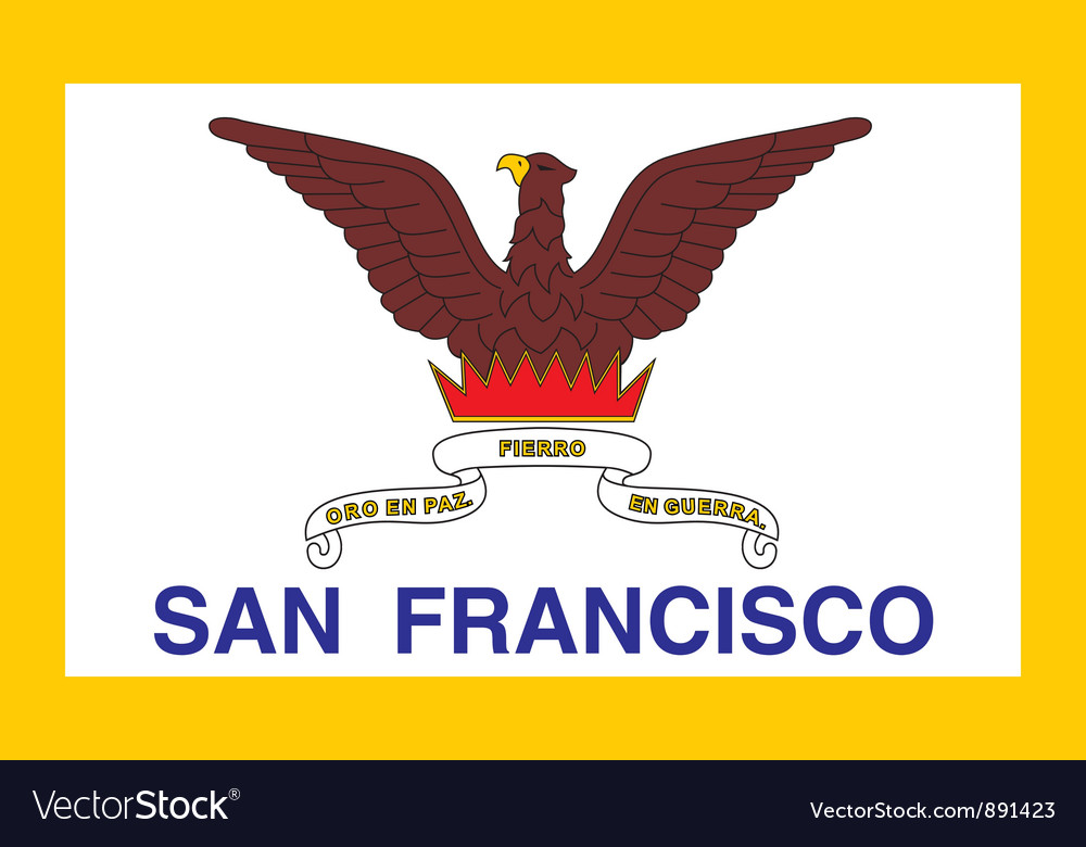 San francisco city flag vector | Price: 1 Credit (USD $1)
