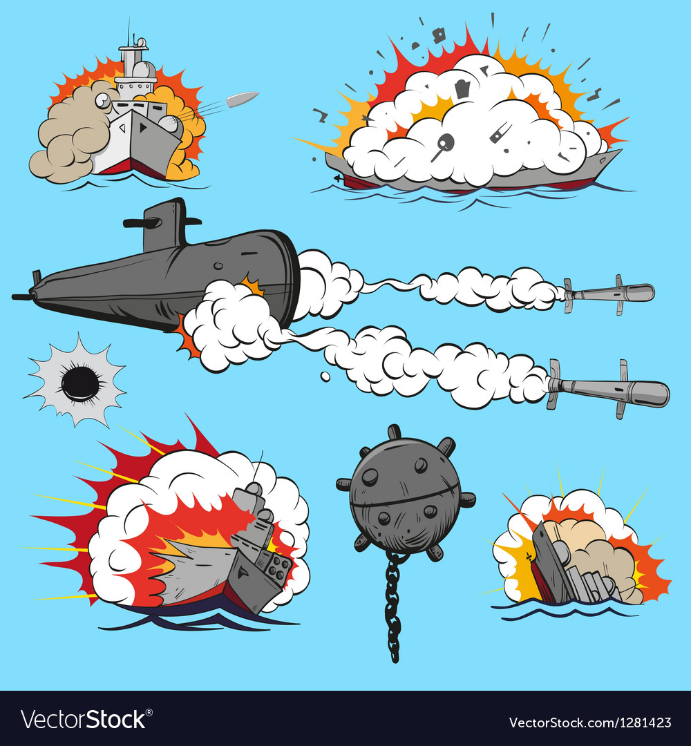 Set of warships vector | Price: 1 Credit (USD $1)