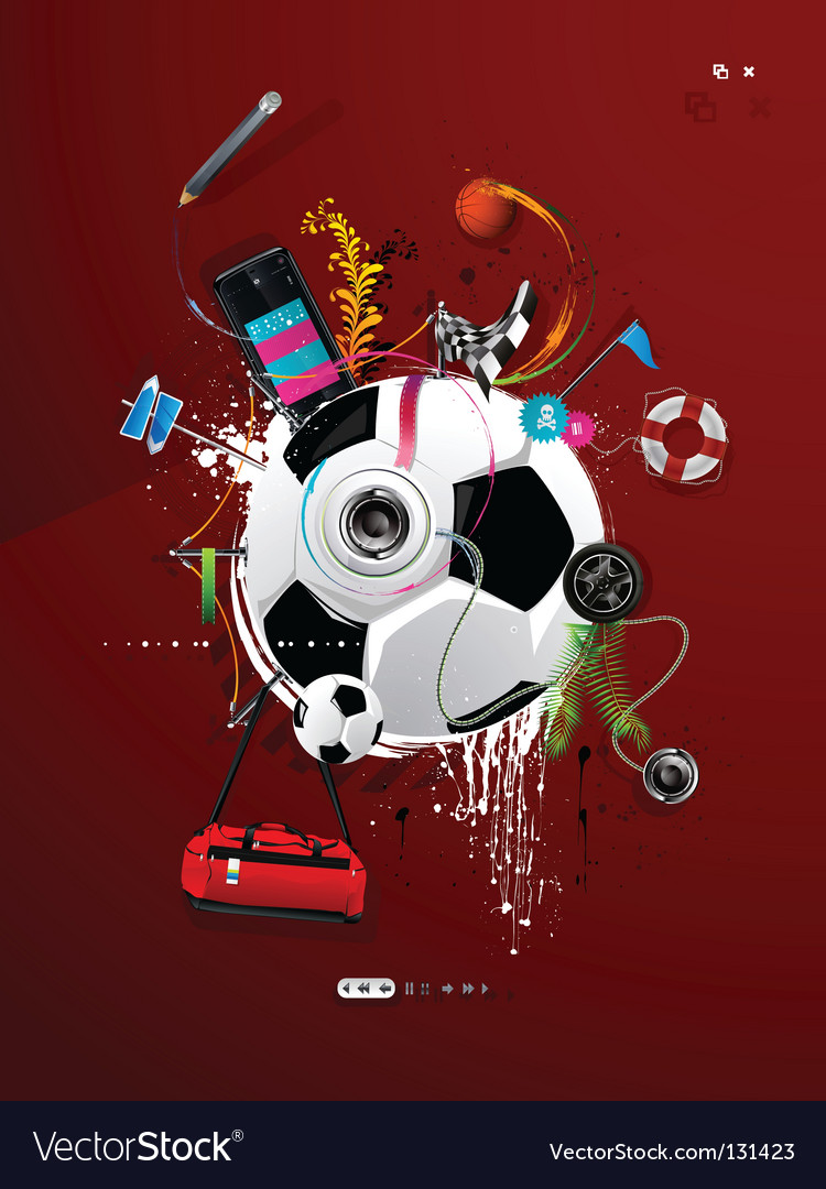 Soccer ball graffiti vector | Price: 5 Credit (USD $5)