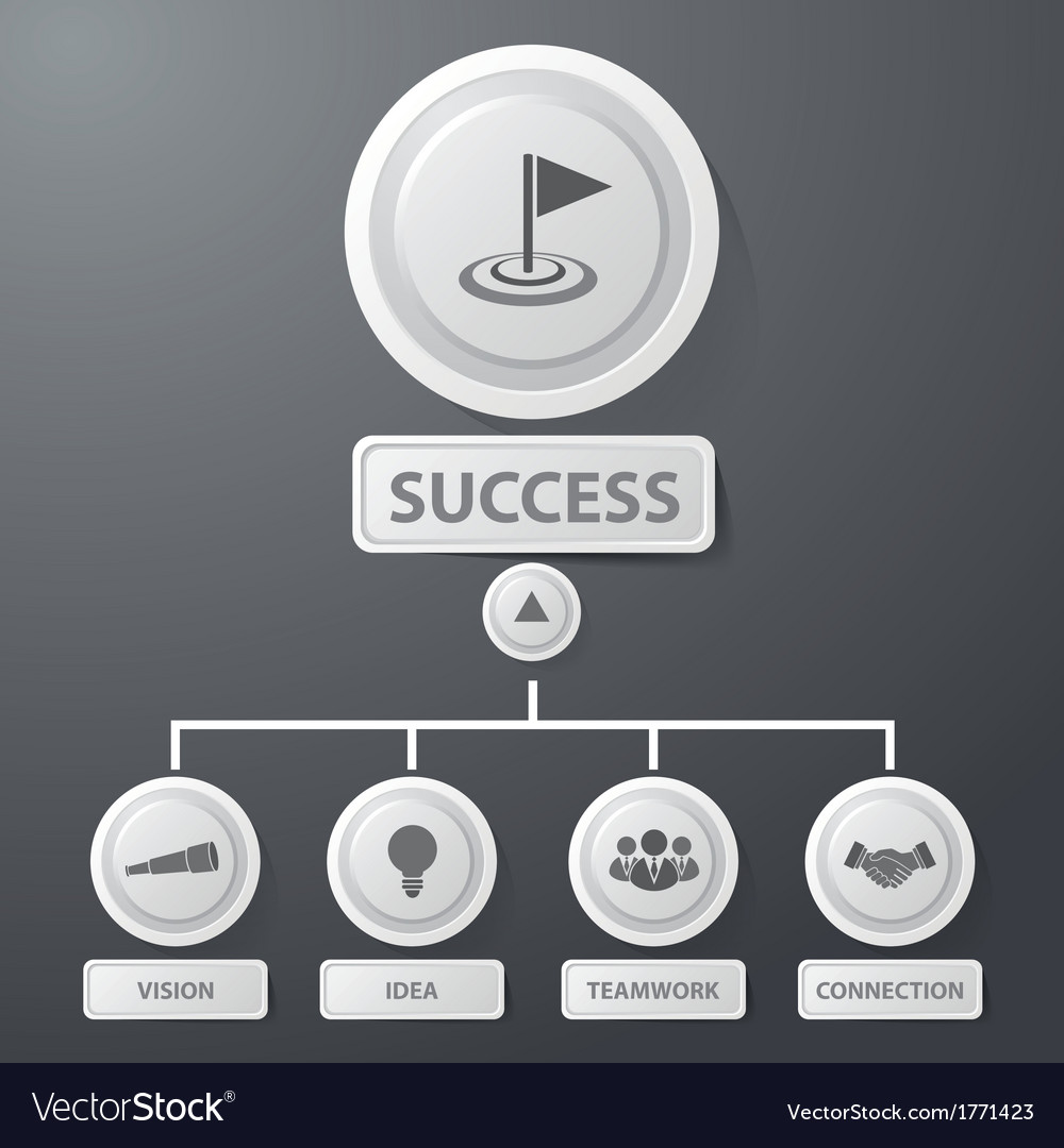 Success business infographics vector | Price: 1 Credit (USD $1)