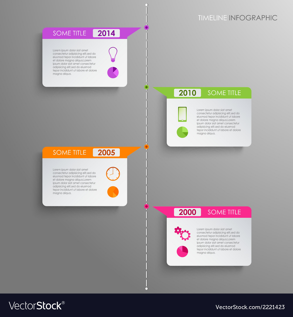 Time line info graphic template vector | Price: 1 Credit (USD $1)