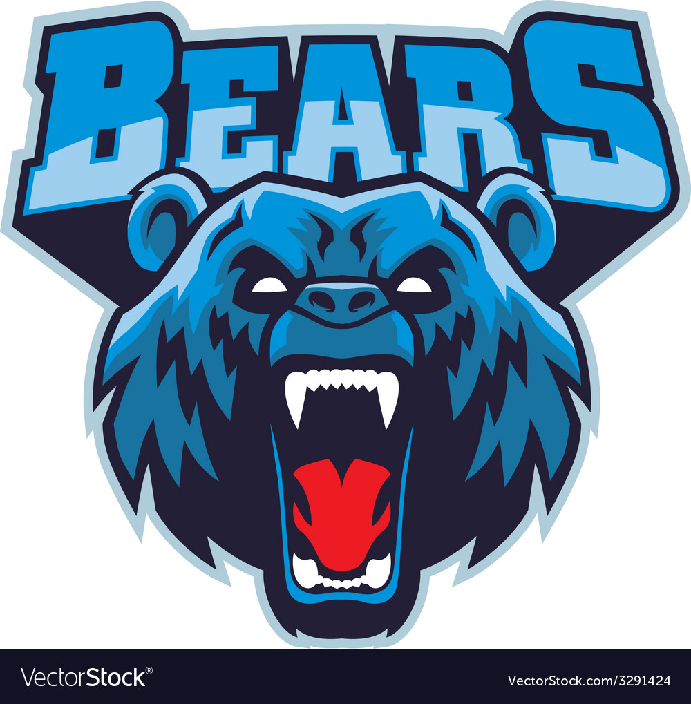 Angry bear head mascot vector | Price: 1 Credit (USD $1)