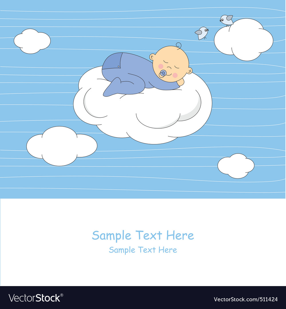 Baby sleeping on the moon vector | Price: 1 Credit (USD $1)