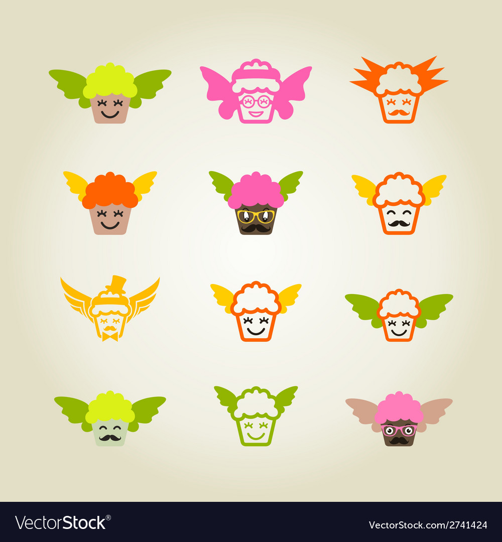 Cupcake colour vector | Price: 1 Credit (USD $1)