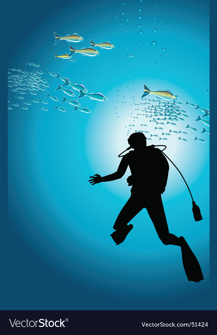 Diver vector | Price: 1 Credit (USD $1)