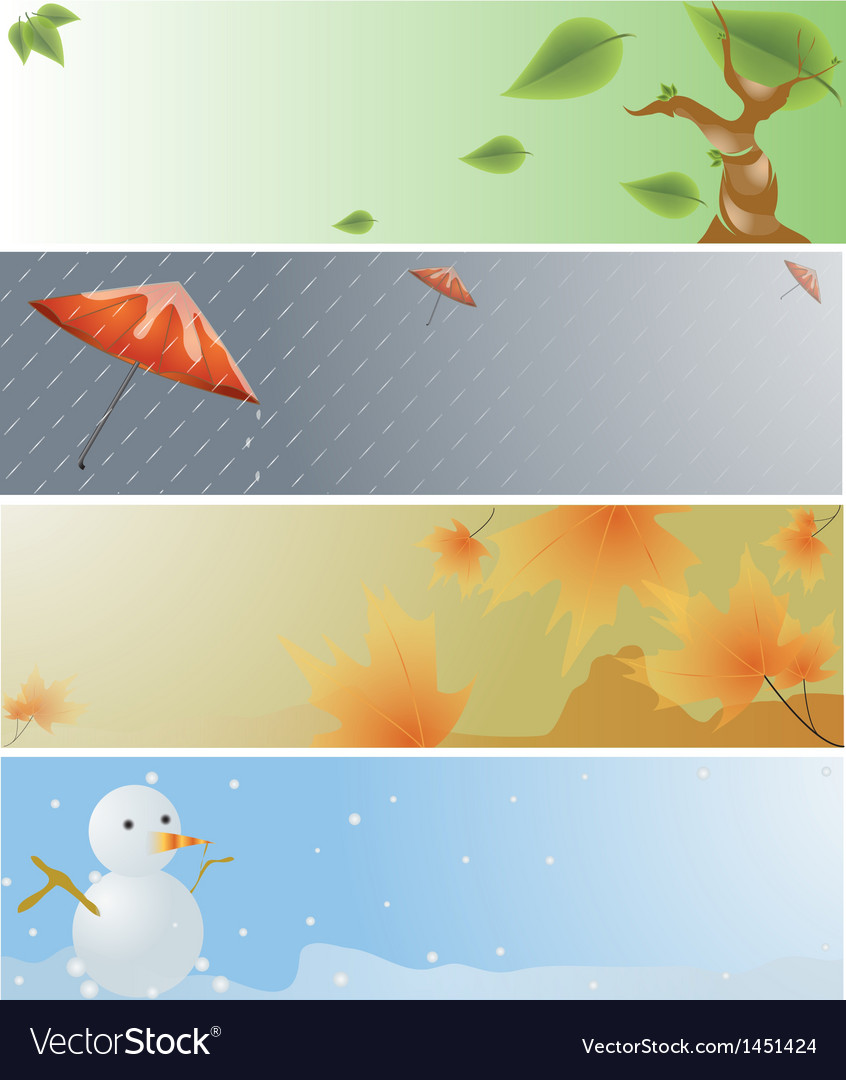 Four seasons banner vector | Price: 1 Credit (USD $1)